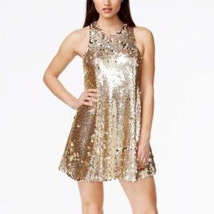 🆕❤️GUESS Gold Sequin mini Dress
